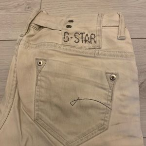 G Star Size 27 off white jeans